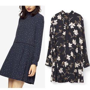 Ganni Floral Motif Rosemont Crepe Dress Sz 4 EUC